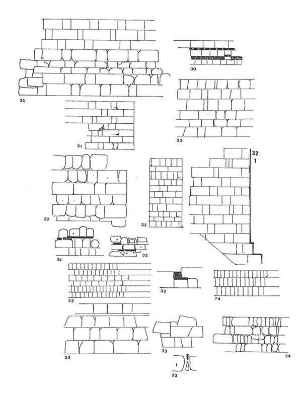 Ejemplo de técnicas constructivas documentadas por Pavón durante el periodo islámico (Pavón, 1999)